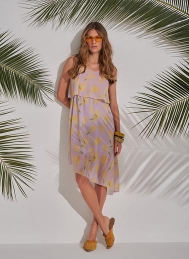 Morhipo Beach Desenli Elbise Lila